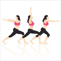 Yoga Actions Vector