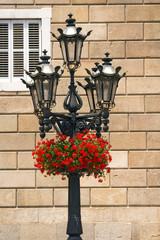 Flowers on Lamp Post - Barcelona Spain