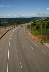 Highway 16 Crossing Puget Sound Over Tacoma Narrows Bridge