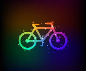 Bicycle symbol,Rainbow vector