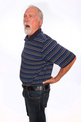 Mature man with back pain