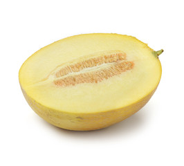 Half of cantaloupe melon