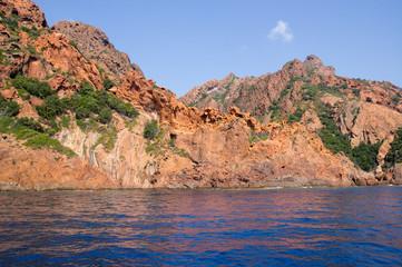 Wall Mural - Scandola Nature Reserve, UNESCO World Heritage site, Corsica, Fr