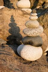 Beach Rock Stacking Balancing Vertical Composition