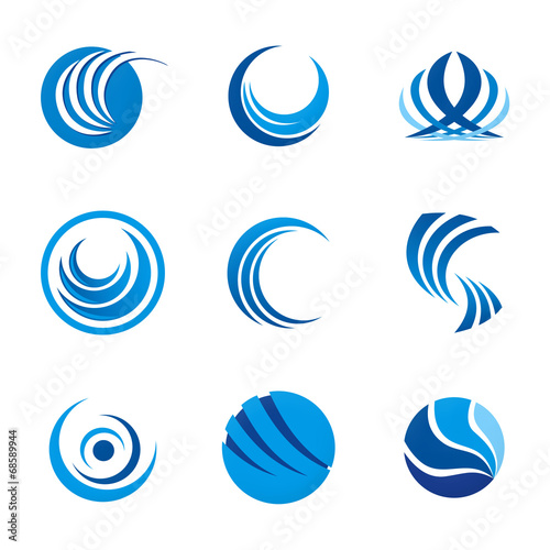 corporate logo circle swirl round vector design