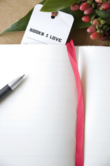 bookmark on notebook