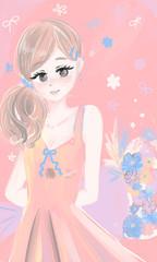 花束サプライズ