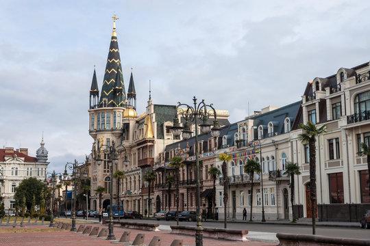 View of Eras Moedani square in Batumi, Georgia