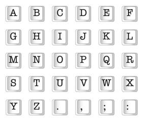 Computer Key Alphabet
