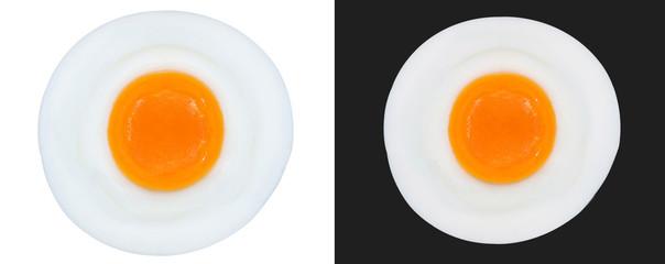 Fond de hotte en verre imprimé Ouf fried eggs isolated
