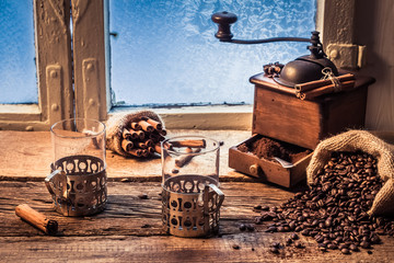 Fototapete - Smell of freshly grinded coffee