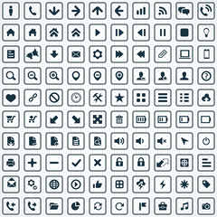 100 UI Icons For Web and Mobile.