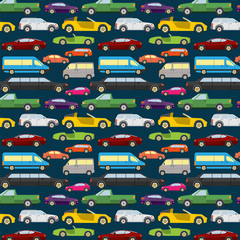 Passenger car background, seamless