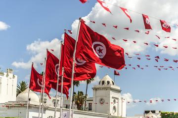 Foto op Canvas Tunesië BanderasTunez