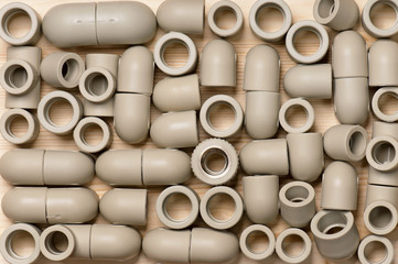 Fittings for plastic pipes