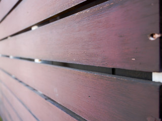 Closeup shot of wooden lath.