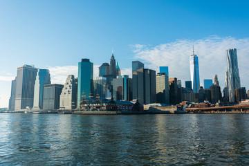 Spoed Foto op Canvas New York City Panorama of downtown Manhattan