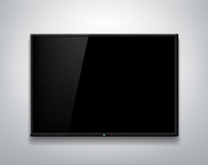 TV screen on the wall background