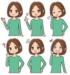 女性 表情セット
