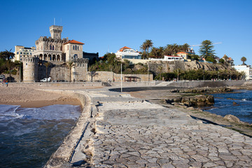 Canvas Prints City on the water Resort Town of Estoril in Portugal.