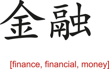 Chinese Sign for finance, financial, money