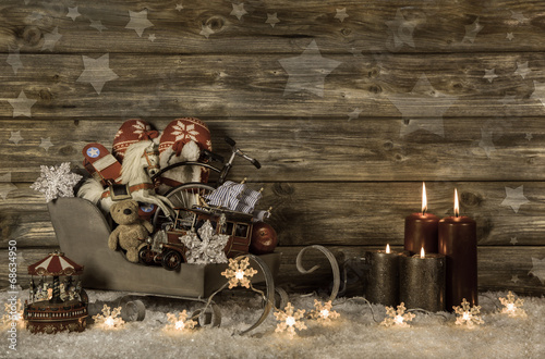 Weihnachten Nostalgisch.Altes Spielzeug Dekoration Weihnachten Nostalgisch Stockfotos Und