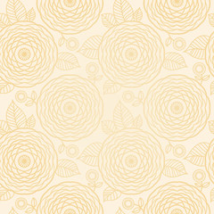 Ornamental seamless pattern with large flowers.