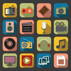 flat Multimedia icon