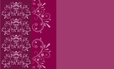 Ornaments pink background