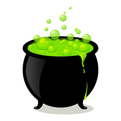 Vector Illustration of a Witch's Cauldron