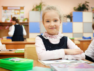 Girl at classroom