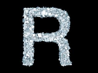Gefrorener Buchstabe R