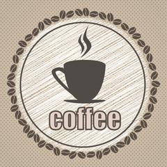 coffee illustration design vintage vector