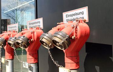 Löschwasser Einspeisung, Brandschutz