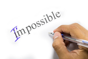 Change the word impossible to I am possible