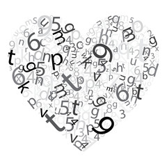 Coração de letras