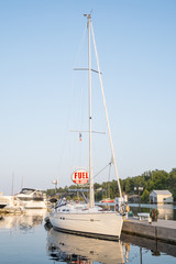 Sailboat Parked in a Marina