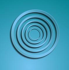 Blue circles illustration