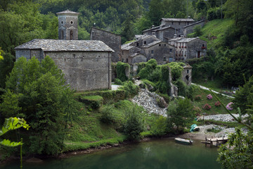 The medieval village of Isola Santa