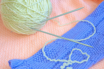 woollens clew with teflon knitting needle