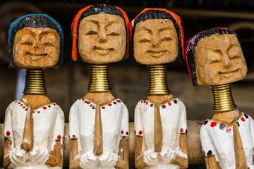 long neck karen wood dolls