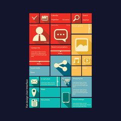 Smartphone or tablet graphic user interface