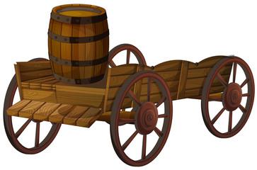 barrel and wagon