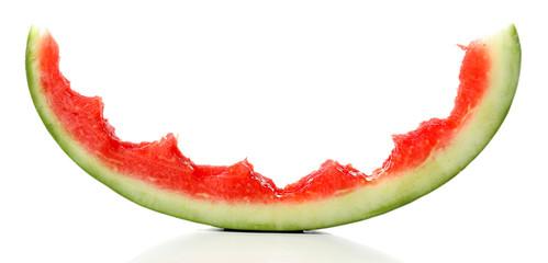 Fototapete - Fresh slice of watermelon, isolated on white