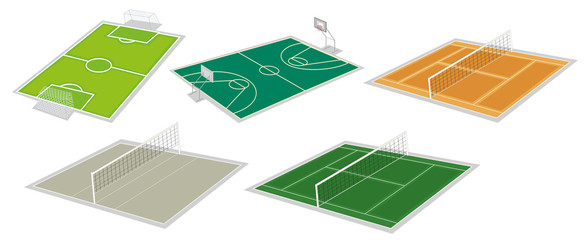 Set of courts