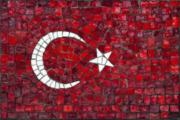 Mosaic flag of Turkey