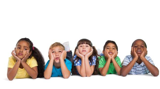 Cute children smiling at camera