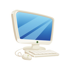 Vector Desktop Computer Illustration