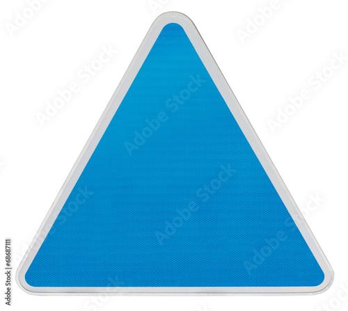 fond de panneau de signalisation triangle bleu clair photo libre de droits sur la banque d. Black Bedroom Furniture Sets. Home Design Ideas