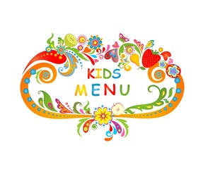 Cardboard for kids menu